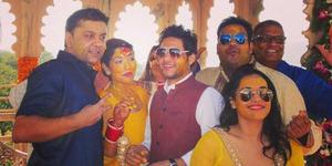 Foto Shrishti Nayyar Istri Rajat Tokas Saat Upacara Haldi