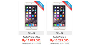 Harga iPhone 6 dan iPhone 6 Plus di Indonesia