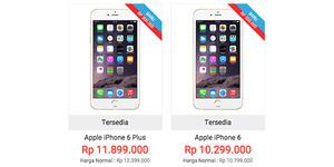 Harga iPhone 6 dan iPhone 6 Plus di Indonesia