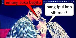 Meme Kocak Nassar Menangis di Pelukan Ivan Gunawan