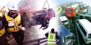 Video Kecelakaan Maut 100 Mobil di Korea Selatan