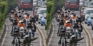 Aksi Arogan Moge Harley Davidson di Busway Dikecam