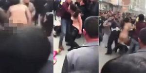 Ditilang Karena Mabuk, Wanita Tiongkok Ngamuk Sambil Bugil