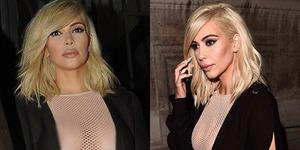 Kim Kardashian Pirang Berbaju Transparan Seksi di Paris