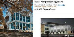 Nunggak Gaji Karyawan, Kampus ISI Dijual di OLX Rp 1 M