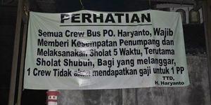 PO Bus Wajibkan Karyawannya Salat Menuai Pujian Netizen