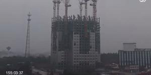 Rekor, Gedung 57 Lantai di China Dibangun Dalam 19 Hari