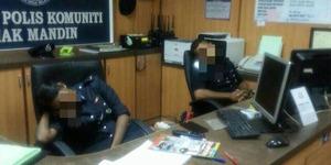 Saat Tugas Malah Ngorok, 2 Polisi Malaysia Dimutasi