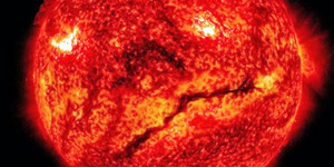 Video Permukaan Matahari Retak