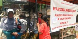 Warung Shodaqoh Yogyakarta Gratis Bagi Kaum Dhuafa