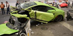 Balapan Tiru Fast and Furios 7, Ferrari dan Lamborghini Remuk