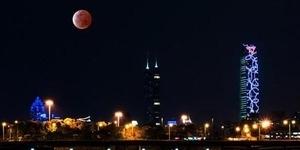 Foto Gerhana Bulan Merah Darah 'Blood Moon' di China