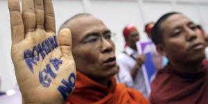 Tolak Rohingya, Biksu Buddha Radikal Myanmar Protes PBB