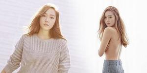 Hot! Jessica Eks SNSD Topless di Majalah Beauty+