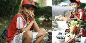 Kiki, Bocah Ceking Penjual Cobek di Jakarta Hidupi 3 Saudaranya