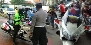 Polisi Gadungan Pakai Moge Terobos Jalur Busway Ditangkap