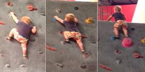 Bayi Ajaib, Belum Bisa Jalan Sudah Jago Memanjat Dinding