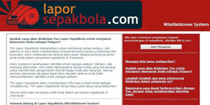 LaporSepakbola.com, Situs Pengaduan Penyimpangan Sepak Bola Indonesia