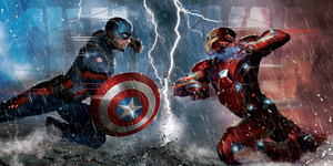 Foto Anggota Tim Captain America VS Iron Man di Civil War