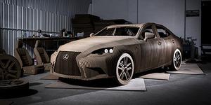 Wow! Mobil Lexus Ini Dari Bahan Kardus