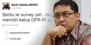 Gantikan Ketua DPR, Fadli Zon Kalah Dari Sandal Jepit