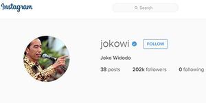 Akun Instagram Presiden Jokowi yang Asli, 'Jokowi'