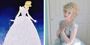 Foto Angela Clayton Dengan Gaun Bak Putri Disney Buatannya Sendiri