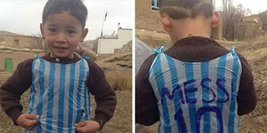 Murtaza Ahmadi, Bocah yang Pakai Jersey Messi Dari Kresek