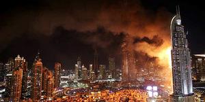 Pesta Kembang Api Malam Tahun Baru, Gedung di Dubai Terbakar