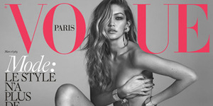Foto Hot Gigi Hadid Bugil di Majalah Vogue