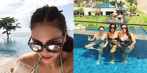 Foto Luna Maya Liburan ke Bali Pakai Bikini Seksi