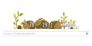 Google Doodle Peringati Tahun Kabisat 2016