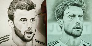 Keren! Karya Pelukis Magelang Dipajang di Instagram Juventus