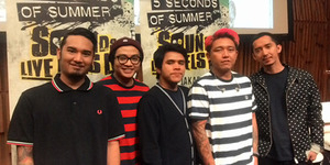 Pee Wee Gaskins Pembuka Konser 5 Second Of Summer di Jakarta