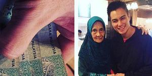 Usai Foto Bareng, Nenek Ini Malah Beri Baim Wong Uang