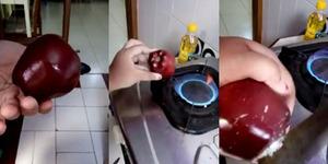 Beredar Video Apel Dilapisi Lilin, Ini Penjelasannya!