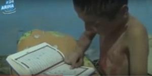Bocah Palestina Korban Konflik Mengaji Al Quran, Tubuhnya Penuh Darah