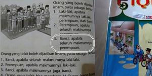 Buku Pelajaran Islam Anak-anak Perbolehkan Banci Jadi Imam Salat