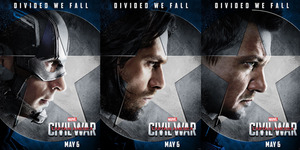 Foto Garang Tim Captain America di Poster Civil War