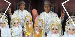 Foto Poligami Nikahi 3 Istri Sekaligus! Ini Penjelasannya