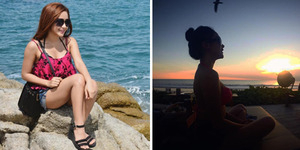 Foto Seksi Berbikini Cita Citata Nikmati Sunset di Bali
