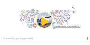 Google Doodle Peringati Hari Perempuan Internasional