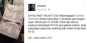 Mau Kencan Diputusin, Ahmad Nelangsa Jual Tiket Film Batman