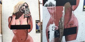 Mural Selfie Bugil Kim Kardashian Jadi Korban Vandal