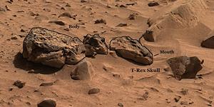 Pengamat UFO: Ada Fosil Dinosaurus di Mars