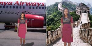 Foto: Berkat Photoshop, Gadis Kenya Bisa Liburan ke China