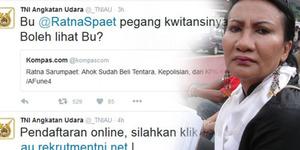 TNI AU Sukses Bungkam Ratna Sarumpaet & Fadli Hamzah Lewat Twitter