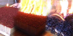 Video 6.000 Korek Api Kayu Dibakar Jadi Viral