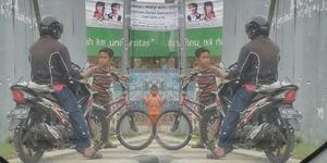 Bocah Cilik ini Stop Biker Terobos Trotoar, Ajak Adu Debat!