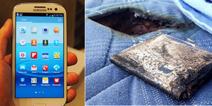 Dicharge Semalaman, Samsung Galaxy S3 Meledak